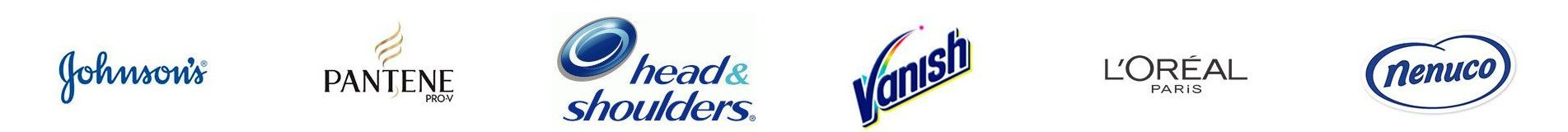 Johnson's Pantene H&S Vanish L'oreal Nenuco